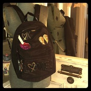 Black Brand New Victoria's Secret Backpack